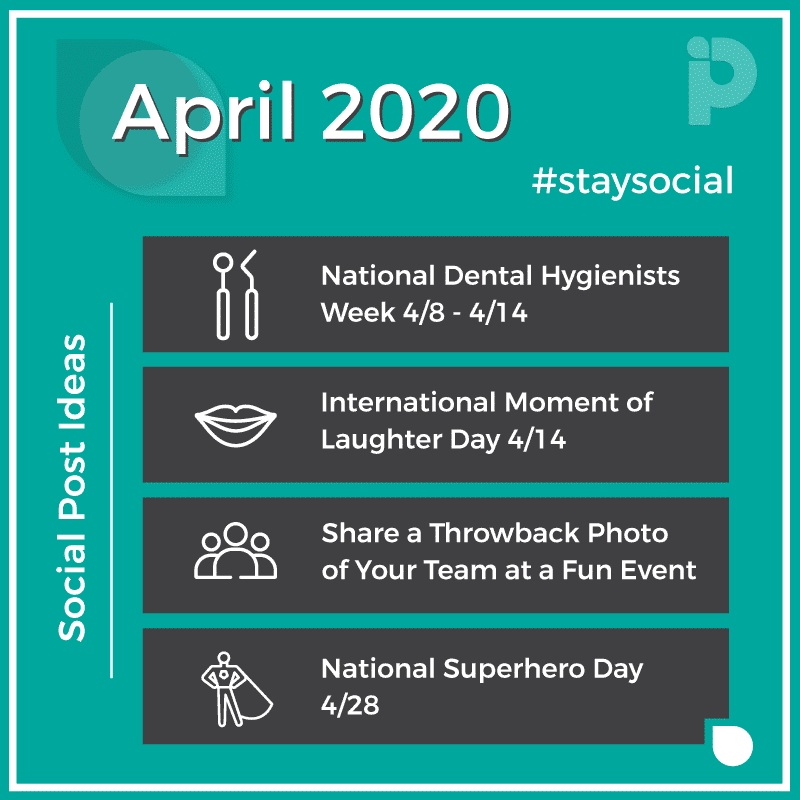 April 2020 stay social Post Ideas