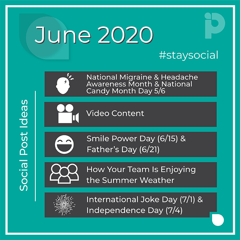 June 2020 #staysocial Pro Impressions Marketing