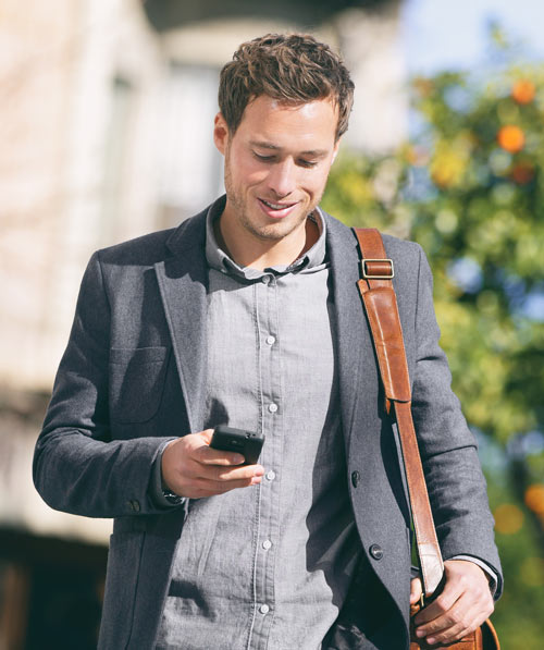 Man Using Mobile Website