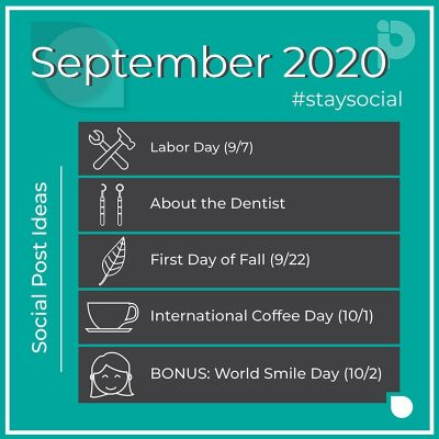 September 2020 stay social post ideas