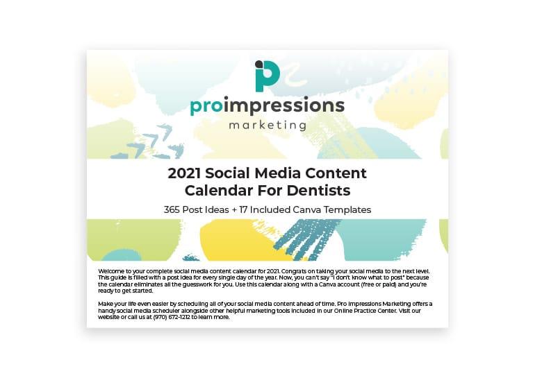 Pro Impressions Social Calendar